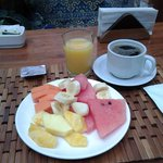 The fruit portion of the included breakfast