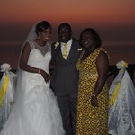 with the couple whose wedding we came to Zanzibar for