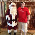 My husband and Santa! Lol