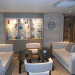 The seating area close to the nail bar