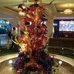 Glass sculpture in front lobby