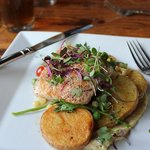 Salmon and potatoes at The Fork
