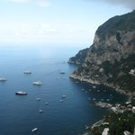 View from the top of the Island of Capri