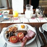 Sumptuous breakfast is served.