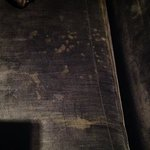 Stains on couch in junior suite