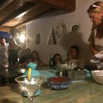 Greek Night - Anna teaching us all how to make traditional tzatziki dip.. it was so Yummy!!