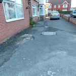 Poorly maintained driveway