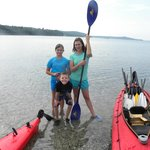 Sea kayaking was fun. Let's do it again!