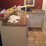 The kitchen area was good