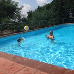 Playing in the pool at Hotel Salivolpi