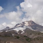 View of Mount Hood from Timberline Lodge Parking Lot