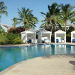 cabanas by the quiet pool