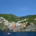 view of Riomaggiore from the ferry