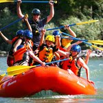 """""""We did it!"""" Another one of our fun familes who just conquered The Yellowstone River."""