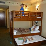 Bunk beds with trundle great for kids!