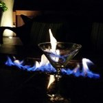 Martinis by the fire pit was still great fun even in August.