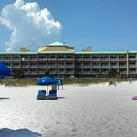 view looking at hotel from beach