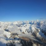 View of Wrangell-St. Elias National Park from Wrangell Mountain Air flightseeing excursion.