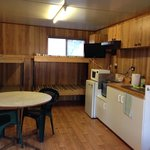 cabin - 2 x bunk beds, table, tv and kitchenette