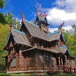 Closeup of Norway Stave Church