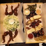 Frog legs and Sausage plate