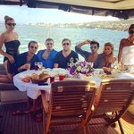amazing birthday yacht party with my bestiesss thanks to luxury istanbul day tours we love you