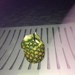 Pineapple drink right before getting engaged on the beach!