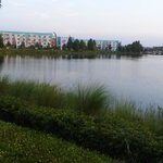 View of the Art of Animation resort from the Pop side of the walking trail