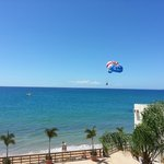 Beach with full activity center including parasailing