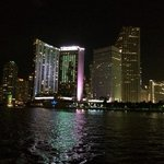 sailing past our hotel in downtown Miami!