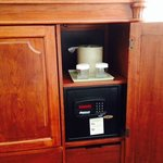 Armoire with safe