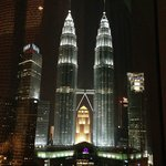 View from room at night - Petronas Twin Towers