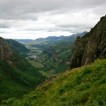 View into Telluride from the top of the pass