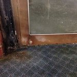 mold and dirt on and entry door
