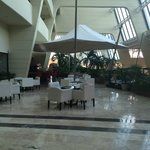 Main hotel open lobby-bar, music, landscaping, shops