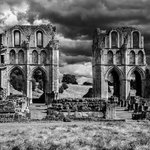 Roche Abbey with storm clouds