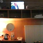 TV needs a tiltable mount - as viewed from bed