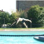 fun at the pool - try to fly