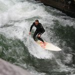 """Some crazy """" river surfing """""""