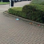 Litter at entrance, can't fail to notice!