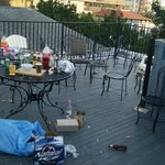 roof top party patio that i cleaned up myself