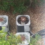 Rusting air conditioning units