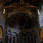 the apse (San Miniato to the rght of Jesus holding a crown)