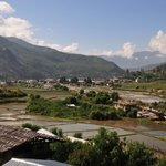 Our view of Paro from the resort