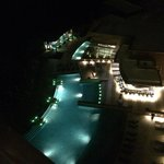 View of the most amazing pool at night!