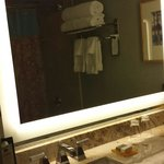 Lighted mirror in bathroom at Inverness resort