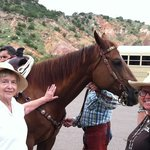 Esther Spaulding and Dallas Mayer, Palo Duro Plein Air Painters, enjoying one of the many beauti