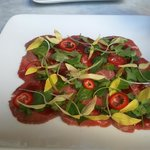 Asian flavored carpaccio