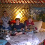 loving the yurt