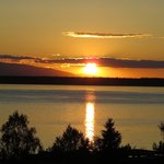 Sunset taken from Susitna Place deck